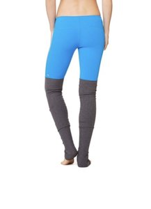 Alo Goddess Ribbed Leggings in Seaport Blue & Stormy Header