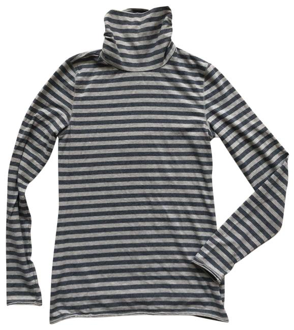 Item - Gray and Beige Striped Turtleneck Tunic Size 4 (S)