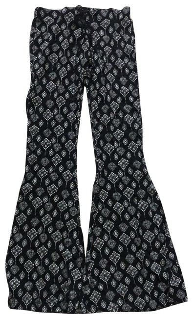 Item - Black and White Lace-up Front Pants Size 4 (S, 27)