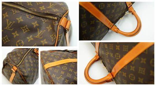 Louis Vuitton 55 Lv Duffle Keepall Bandouliere Brown Travel Bag Image 10