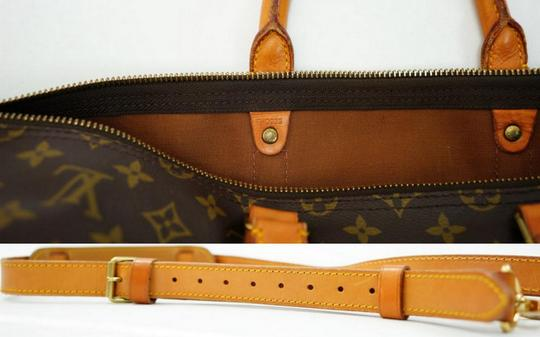 Louis Vuitton 55 Lv Duffle Keepall Bandouliere Brown Travel Bag Image 11