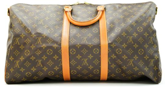 Louis Vuitton 55 Lv Duffle Keepall Bandouliere Brown Travel Bag Image 3