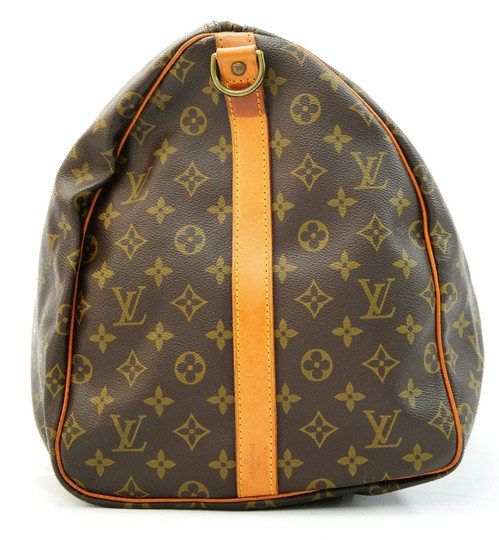 Louis Vuitton 55 Lv Duffle Keepall Bandouliere Brown Travel Bag Image 4
