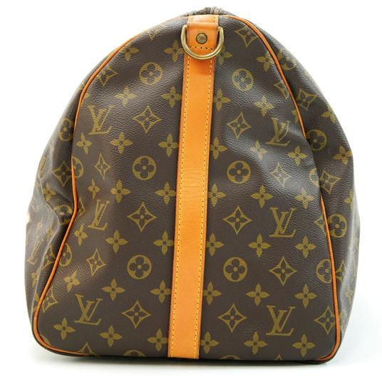 Louis Vuitton 55 Lv Duffle Keepall Bandouliere Brown Travel Bag Image 5