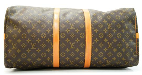 Louis Vuitton 55 Lv Duffle Keepall Bandouliere Brown Travel Bag Image 6