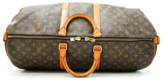 Louis Vuitton 55 Lv Duffle Keepall Bandouliere Brown Travel Bag Image 7