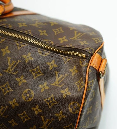 Louis Vuitton 55 Lv Duffle Keepall Bandouliere Brown Travel Bag Image 8