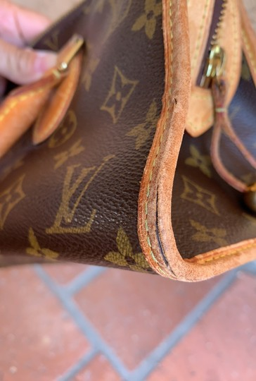 Louis Vuitton Satchel in brown. Image 4