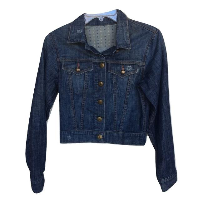 Item - Blue Distressed Brass Button Jacket Size 4 (S)