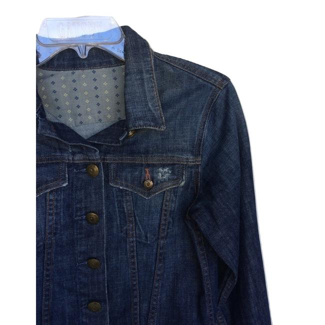 Level 99 Blue Distressed Brass Button Jacket Size 4 (S) Level 99 Blue Distressed Brass Button Jacket Size 4 (S) Image 2