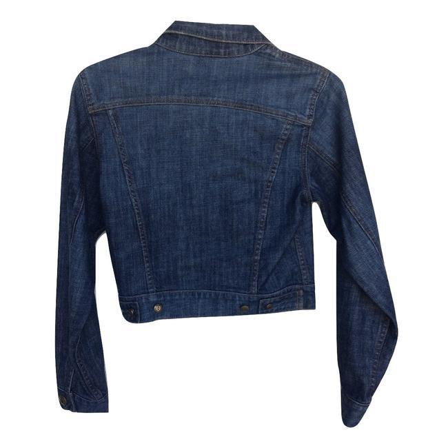 Level 99 Blue Distressed Brass Button Jacket Size 4 (S) Level 99 Blue Distressed Brass Button Jacket Size 4 (S) Image 3