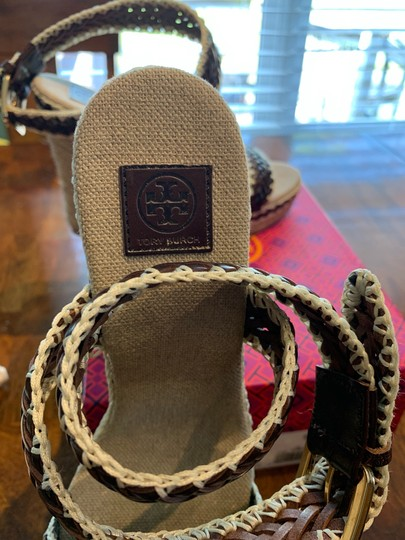 Tory Burch Brown and Cream Wedges Image 1