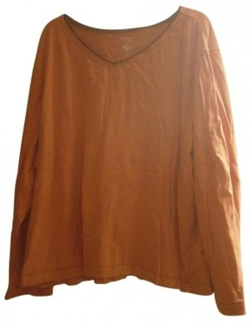 Other Long Sleeve With Brown Outline Slee T Shirt Dark Orange