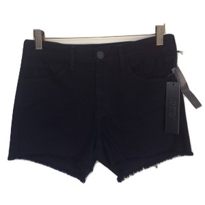 SOLD Design Lab Denim Raw Hem Cut Off Shorts Black