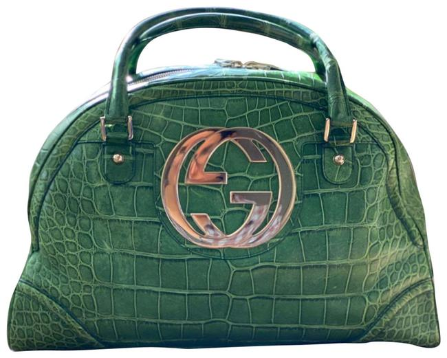 Item - Boston Tom Ford Era Limited Edition Blondie Bowler Top Handle Green Crocodile Skin Leather Satchel
