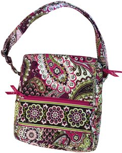Vera Bradley Laptop Tote in Brown, White, Pink and Green
