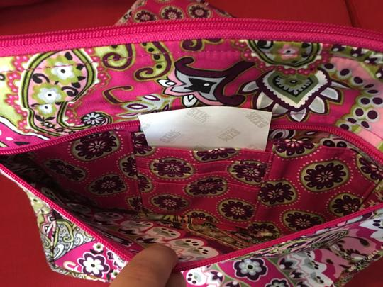 Vera Bradley Laptop Tote in Brown, White, Pink and Green Image 5