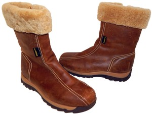 Blondo Leather Shearling Winter Brown Boots