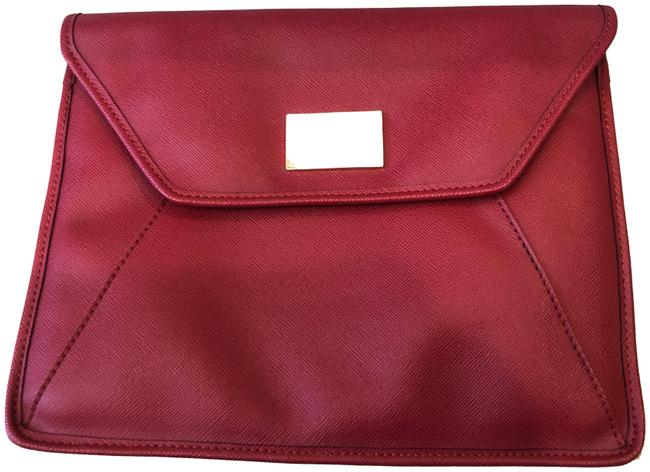Michael Kors Red Leather Clutch Michael Kors Red Leather Clutch Image 1