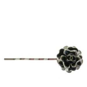 Chanel CHANEL Camellia Clip Hair Brooch Silver Plated 03C France Accessories