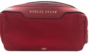 """Anya Hindmarch cosmetics pouch """"girlie stuff"""" in red. Very clean and like new"""