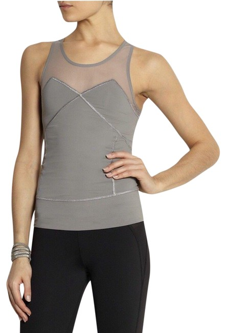 Item - Gray Mesh Athletic Activewear Top Size 4 (S)