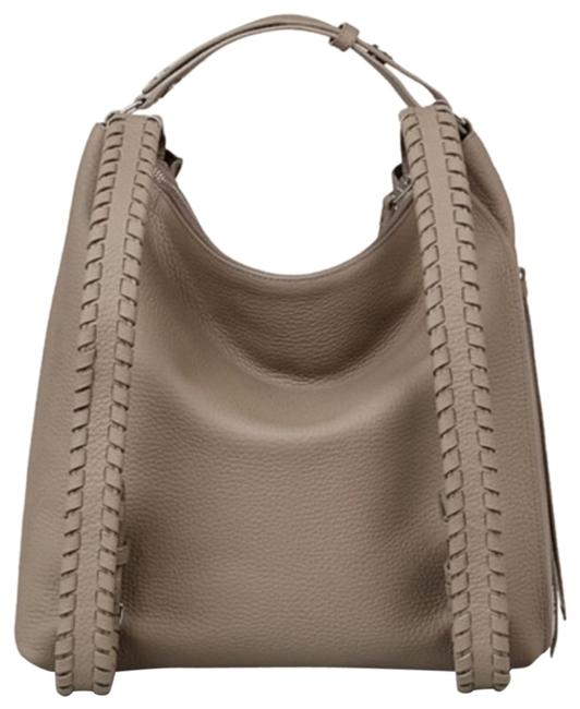 Item - Kita Taupe Grey Leather Backpack