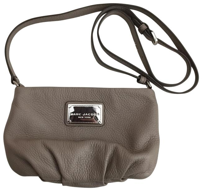 Item - Small Gray Leather Cross Body Bag