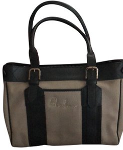 Burberry Tote in Black and Khaki