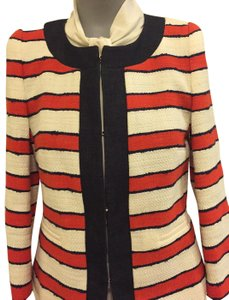 Max Mara Red/White/Jean Blue Striped Jacket