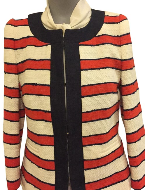 Item - Red/White/Jean Blue Striped 5041117706 Jacket Size 6 (S)
