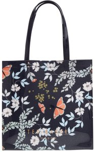 Ted Baker Luggage Travel Leather Logo Tote in Blue