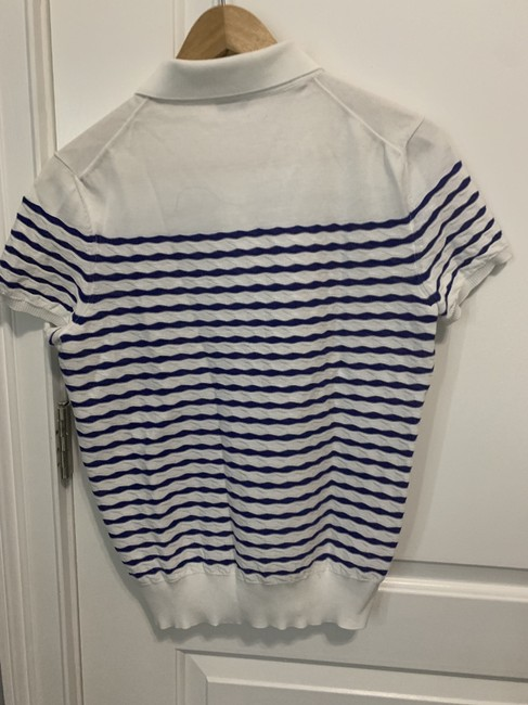Chanel Top White and Blue Stripes Image 3
