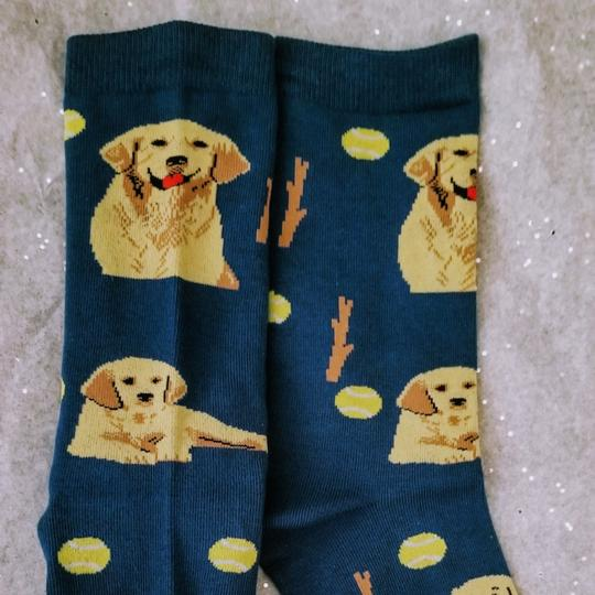 Golden Horn Creations Golden Retriever Dog Ladies Socks Image 0
