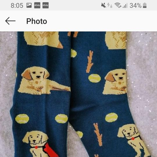 Golden Horn Creations Golden Retriever Dog Ladies Socks Image 1
