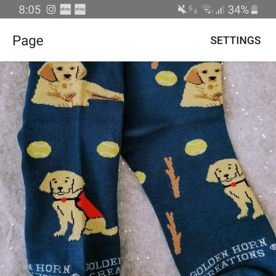 Golden Horn Creations Golden Retriever Dog Ladies Socks Image 2