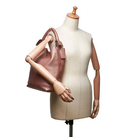 Fendi 9ffnto007 Vintage Leather Tote in Pink Image 10