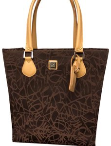 Diane von Furstenberg Tote in brown and tan leather handles