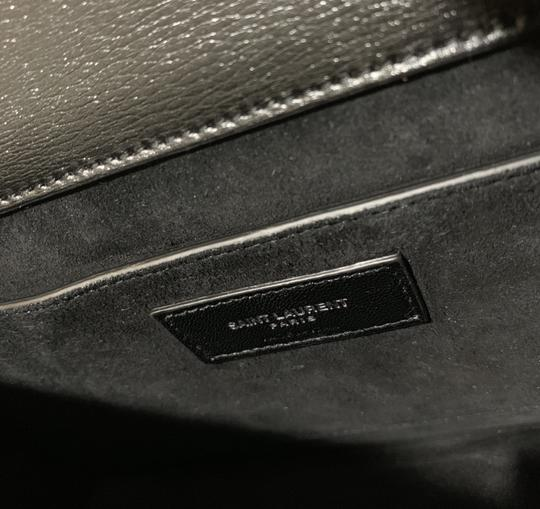 Saint Laurent Large Ysl Sunset Black Shoulder Bag Image 10