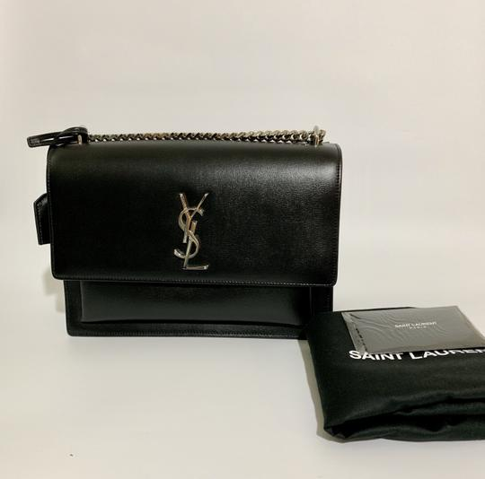 Saint Laurent Large Ysl Sunset Black Shoulder Bag Image 2