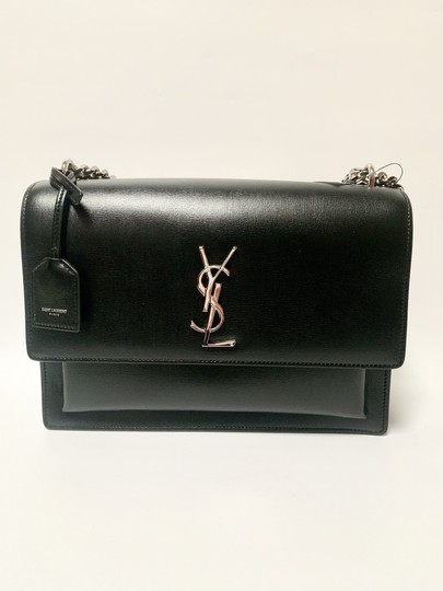 Saint Laurent Large Ysl Sunset Black Shoulder Bag Image 3