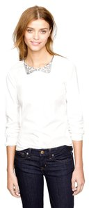 J.Crew Button-down Crystal Embellished Top White