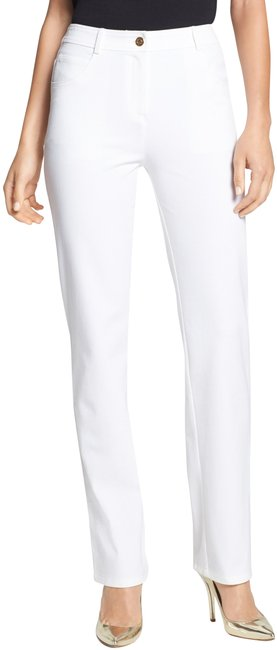 Item - Bright White Collection Marie Stretch Cotton Twill Pants Size 14 (L, 34)