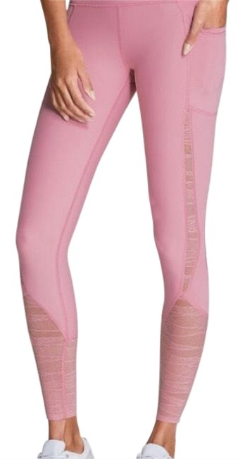 Victoria's Secret VS Sport Knockout Pink lace insert tights/leggings Image 0