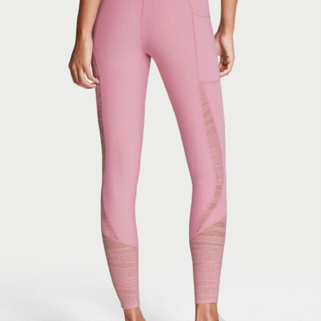 Victoria's Secret VS Sport Knockout Pink lace insert tights/leggings Image 5