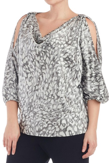 Preload https://img-static.tradesy.com/item/25616081/st-john-gray-white-l-stretch-silk-crystal-and-pearl-studded-103418-blouse-size-14-l-0-1-650-650.jpg