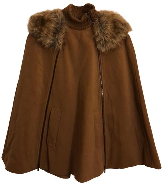 Item - Tan/Brown/Camel Poncho/Cape Size 6 (S)