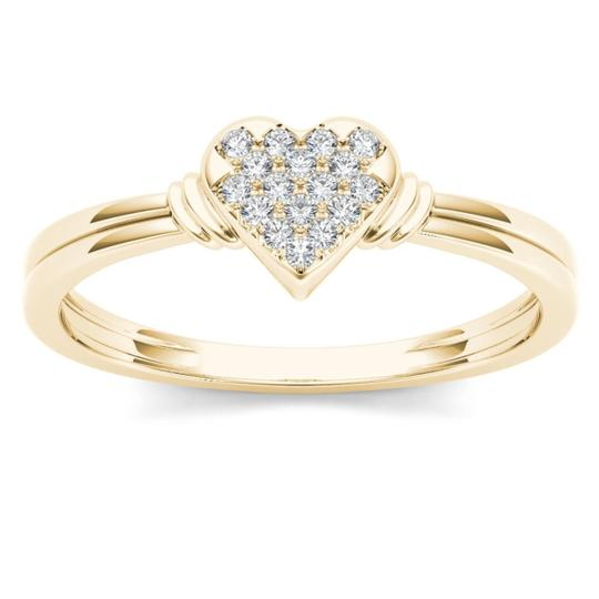 Elizabeth Jewelry 10Kt Yellow Gold Diamond Engagement Heart Ring Image 0