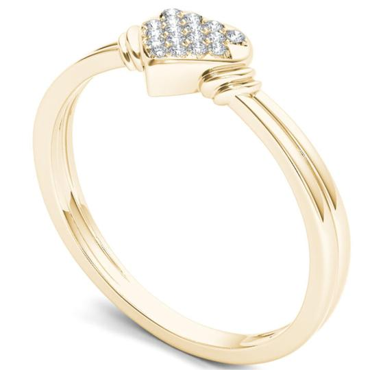 Elizabeth Jewelry 10Kt Yellow Gold Diamond Engagement Heart Ring Image 1