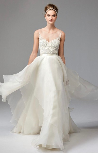 Item - Dianthus Beaded Top 1041b Feminine Wedding Dress Size 10 (M)